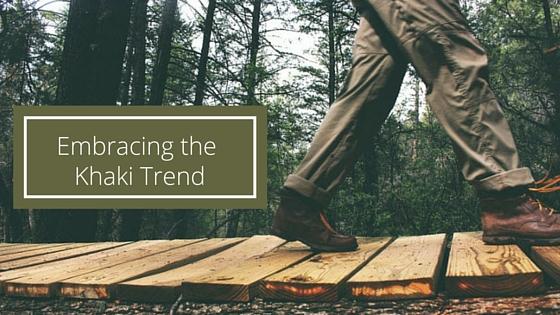 Embracing the khaki trend this season