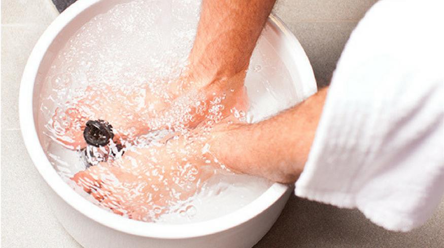 Homemade foot soaks for sore feet